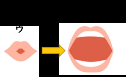 「わ」の口の形